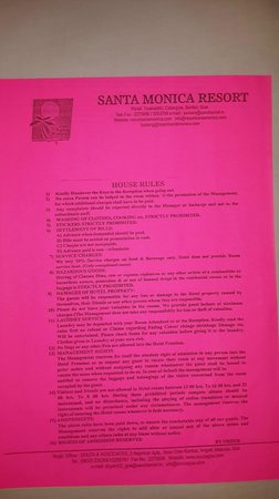 Santa Monica Resorte: Strange Rules