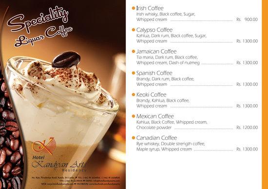 Kandyan Arts Restaurant: Speciality coffee