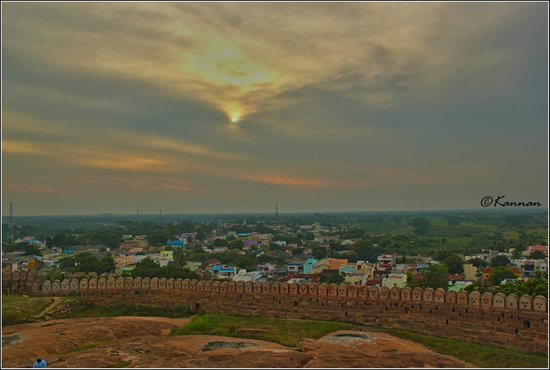 Thirumayam Fort: View from top of the fort