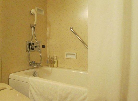 ANA Crowne Plaza Kyoto: バスルームのデザインも古いですが、バスタブは充分でした
