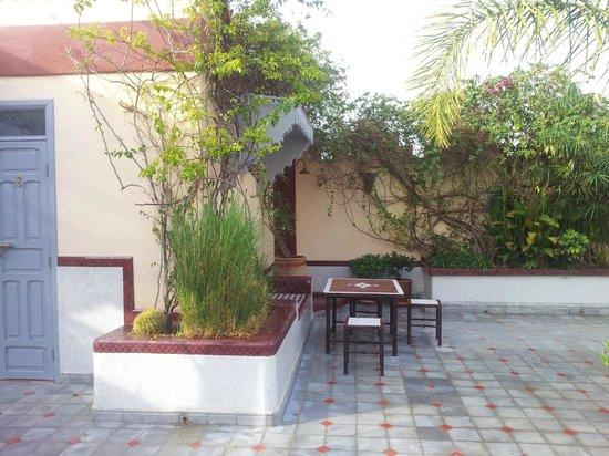 Riad Noos Noos : Terras naast kamer