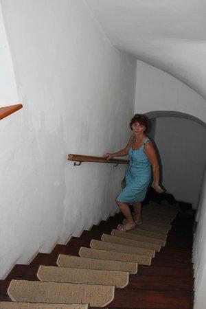 Pension Ametyst: Крутая лестница на второй этаж