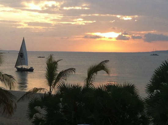 The Majlis Resort: Sunset from Balcony