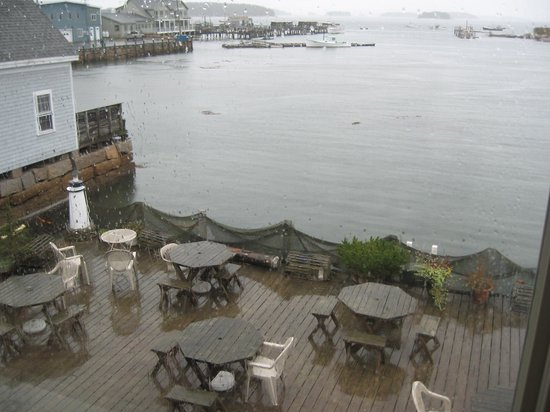 Inn on the Harbor: View of Deck from Heritage Room