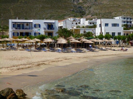 Notaras Hotel: Albergo Notaras e la sua spiaggia
