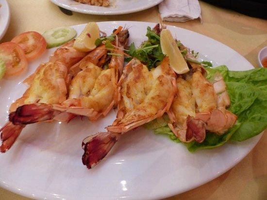 Orkid Ria Seafood Restaurant: Grilled Tiger Prawns