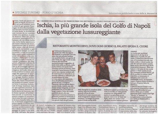 Montecorvo: Articolo su Repubblica - Famiglia Monti