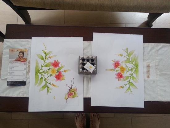 Ashoka Tree Resort Ubud : our result from the painting class