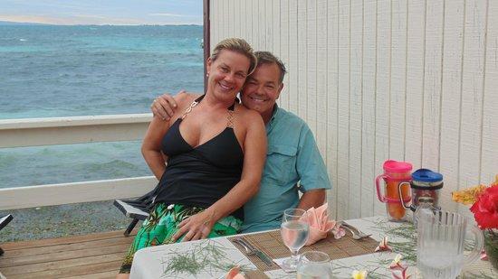 Blue Marlin Beach Resort: A very happy lady.
