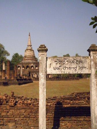 Wat Chang Lom : Portal de entrada do palácio