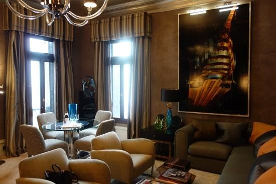 The Gritti Palace, A Luxury Collection Hotel : the lounge of room 310