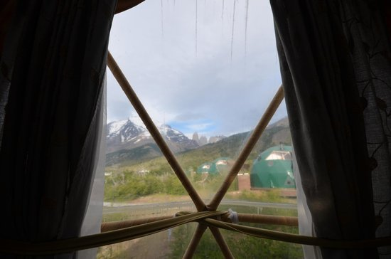 Ecocamp Patagonia: View of the torres from the suite