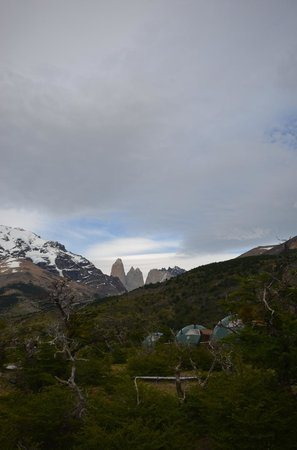 Ecocamp Patagonia: all the suites on one side of the resort, domes on the other
