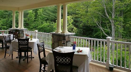 Dining Room at The Inn at Thorn Hill and Spa : dinner at our wrap around porch