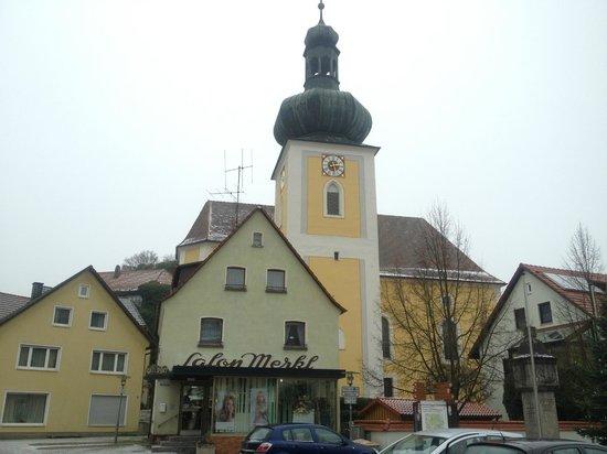 Haus am Markt: Church in Konigstein town centre