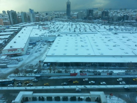 Istanbul Marriott Hotel Asia: View from room on 16th floor