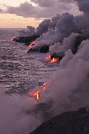 David Ewing Lava Walking Tours: Lava Flowing into the Ocean
