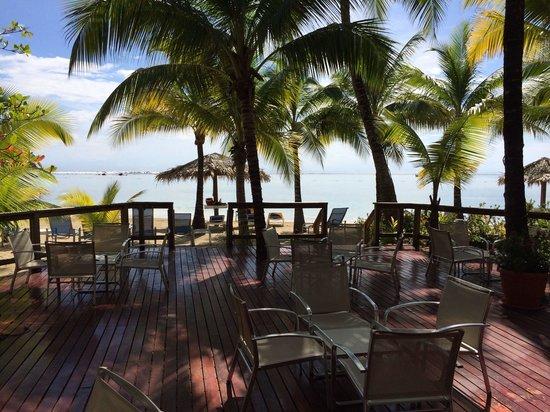 Fantasy Island Beach Resort : Deck from lobby.