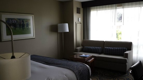 DoubleTree by Hilton San Diego - Del Mar: Couch and heating/cooling unit