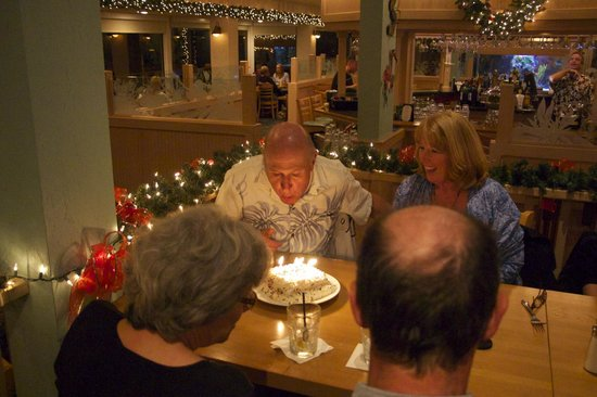 Gulf View Grill: the Happy Birthday cake