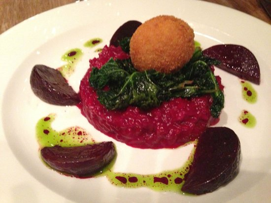 Joseph Benjamin: Beetroot risotto with kale and goats cheese..delicious