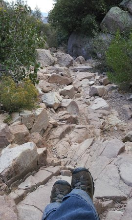 Peralta Pass: The path is rocky.