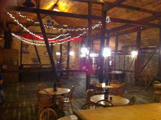 "Battlefield Brew Works & Spirits of Gettysburg : Interior of the ""barn"""