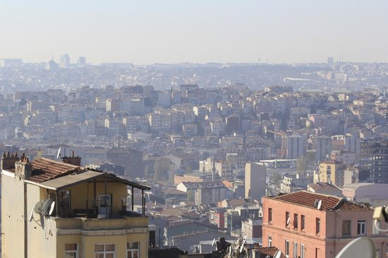 Faros Hotel Taksim : View from suite on top floor