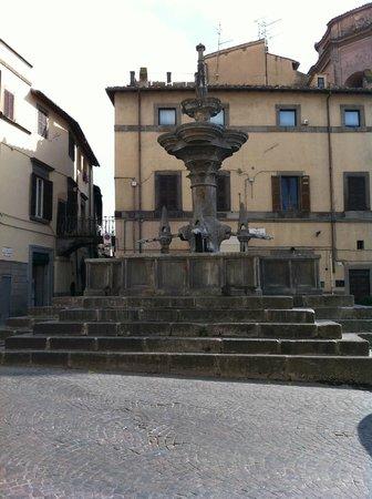 Viterbo Historic Centre: Rione San Pellegrino a Viterbo, una fontana