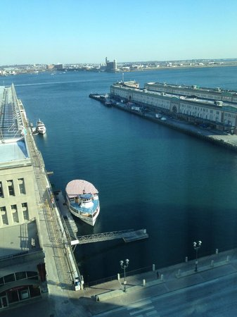 Seaport Boston Hotel: Morning view from 14th floor