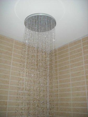Hilton Garden Inn Aberdeen City Centre: fantasic hands free and spacious shower cabinet