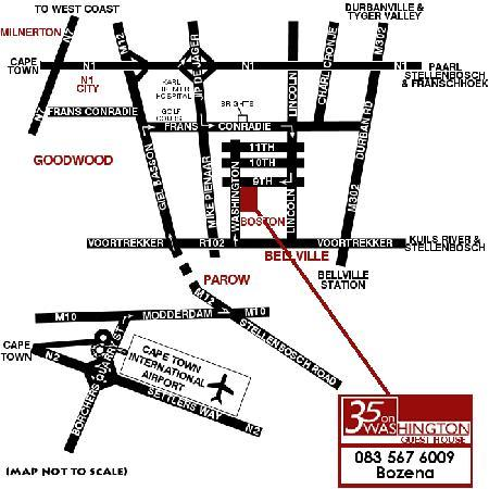 35 on Washington Guest House: map
