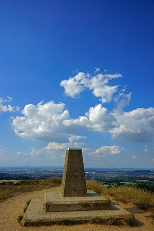 ‪‪Painswick‬, UK: The trig point, painswick Beacon‬