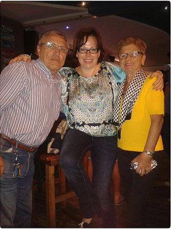 Ocean Cafe: Con los padres de los proprietarios italianos