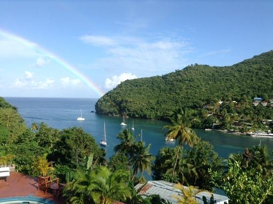 Marigot Palms Luxury Caribbean Guesthouse and Apartments: One of many rainbows during our stay