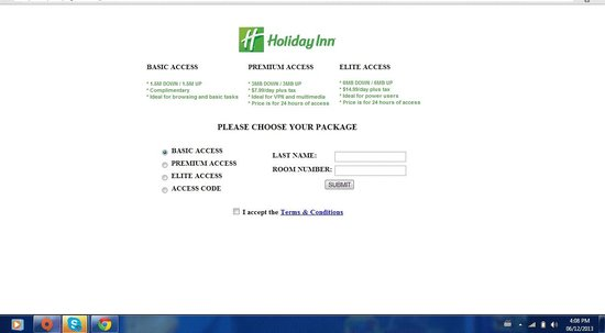 Holiday Inn Guelph Hotel & Conference Centre : Evidence that the internet is not free