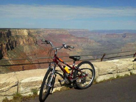Bright Angel Bike Rentals and Tours: Biking the Hermit Rest ride