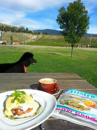 Nichols Garden Cafe: Outdoor dining with a view - the best place in Cromwell for brunch/lunch in summer