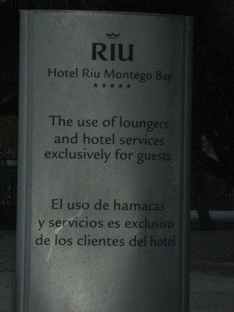 Hotel Riu Montego Bay: beach area