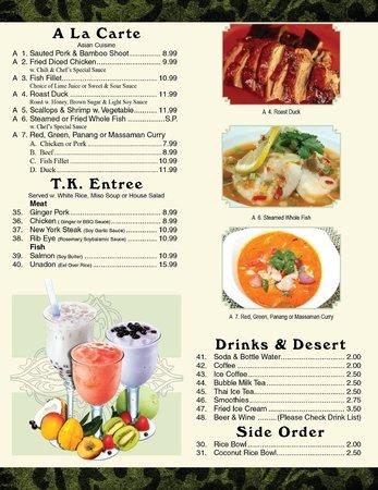 Teton kitchen Entree ( Thai & Japanese)