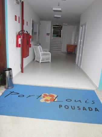Pousada Port Louis: Hall de entrada da ala dos quartos deluxe