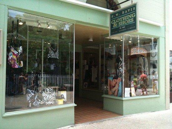 H W Davis Clothing: HW Davis Storefront
