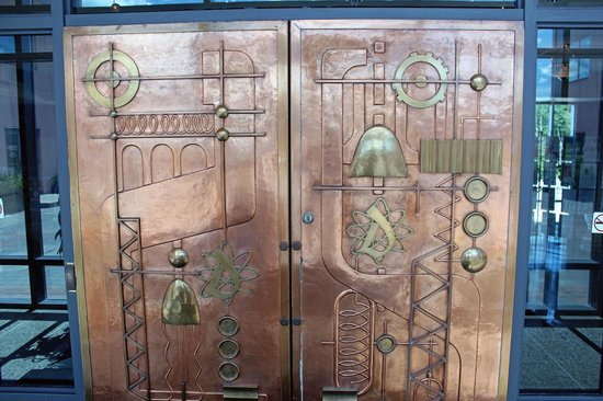 Elliot Lake, Canada: The door of the museum