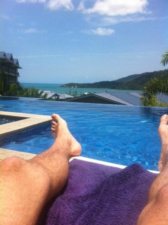 Peppers Airlie Beach: the infinity pool overlooking the bay