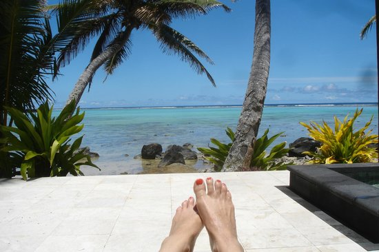 Te Manava Luxury Villas & Spa : View from our room
