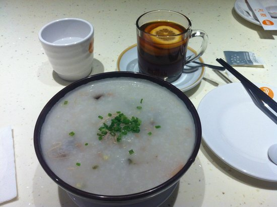 Dazhong Airport Hotel : Rice Porridge for Breakfast