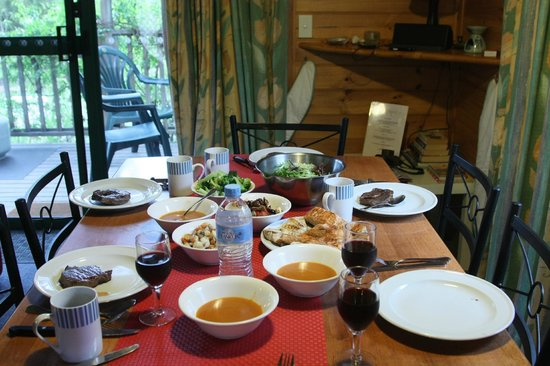 Sandpiper Ocean Cottages: DIY steaks and freshly caught seafood out of the cottage oven!