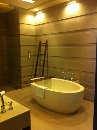Cape Nidhra Hotel : The bathroom in the garden pool type