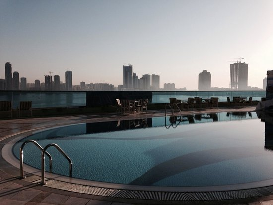 Hilton Sharjah: View from pool deck
