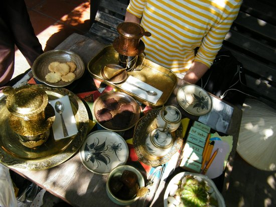 Reaching Out Tea House: Our full table.